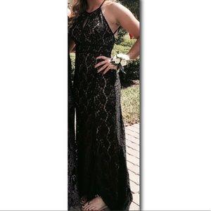 Black Lacey prom dress